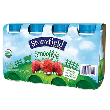 Stonyfield Organic Smoothie (6 oz. bottles, 8 pk.)