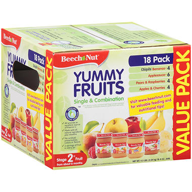 Beech-Nut� Yummy Fruits Value Pack - 4 oz. - 18 ct.