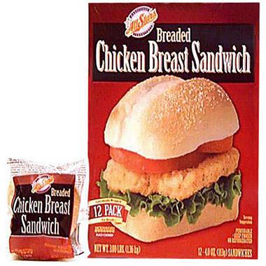 All Stars® Breaded Chicken Breast Sandwich 12ct