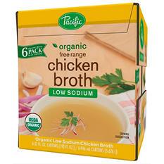Pacific Organic Free Range Low Sodium Chicken Broth (32 oz. carton, 6 ct.)