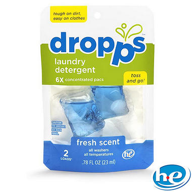 Dropps Laundry Detergent Pacs, Fresh Scent - 200 Loads