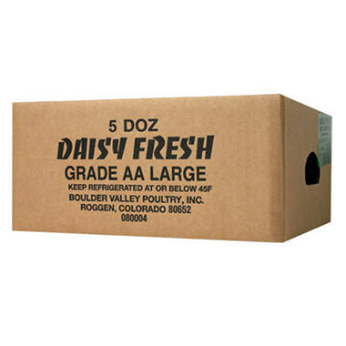 Daisy Fresh Large Grade AA Eggs - 5 Doz.