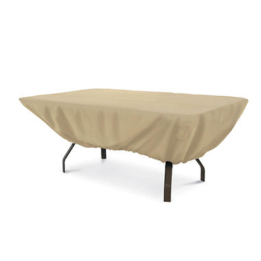 Rectangular Patio Table Cover - Sand