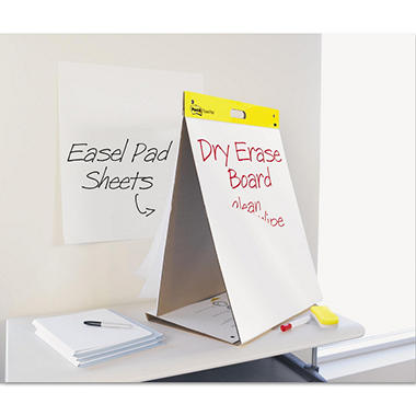 "Post-it� Easel Pads Super Sticky Dry Erase Tabletop Easel Pad - 20"" x 23"" - White - 20 Sheets/Pad"