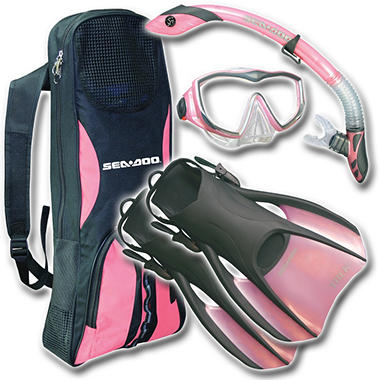 Sea Doo Travel Ready Snorkel Set - Medium - Pink