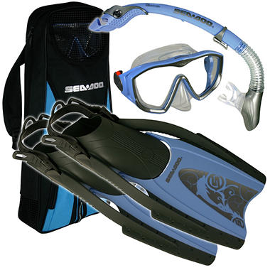 Sea Doo Snorkel Set - Lady's Medium - Arctic Blue