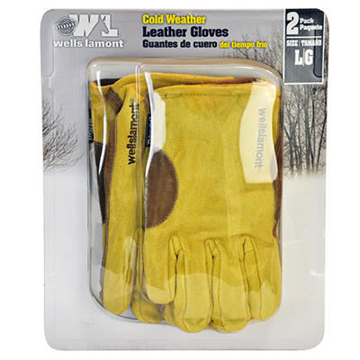 Wells Lamont Large Thinsulate Gloves - 2 pk.