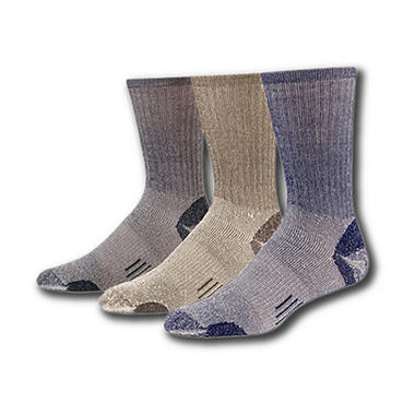 Omni-Wool Multi Sport Hiker Fine Merino Wool Socks - 3 pair