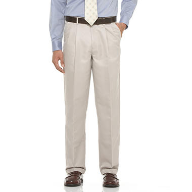 Mens Microfiber Expander Straw Dress Slacks