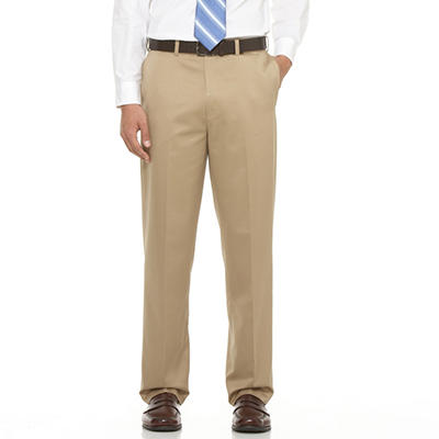 Mens Casual Expander Waist Brown Pants