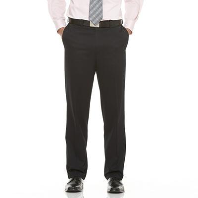 Mens Casual Expander Waist Black Pants
