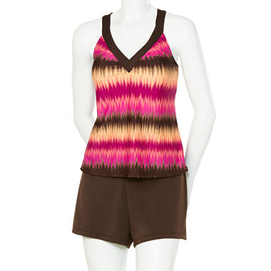 Ikat Sunset Tankini
