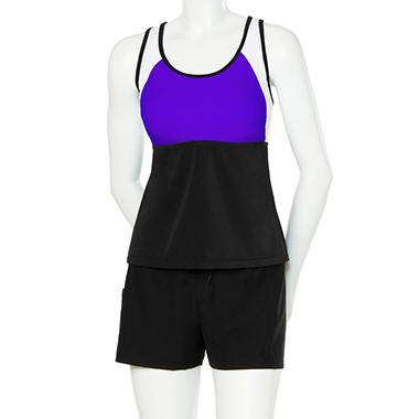 Racerback Tankini w/Shorts