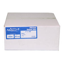 "Alliance Bond Paper Receipt Rolls, 3""x150', 50 Rolls"