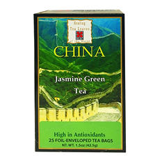 Healing Tea Leaves Green Tea Jasmine Teabags (25 ct., 6 pk.)