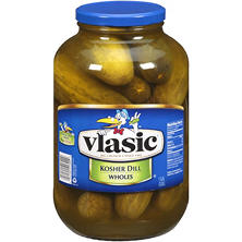 vlasic Kosher Dill, Wholes (1 gallon jar)