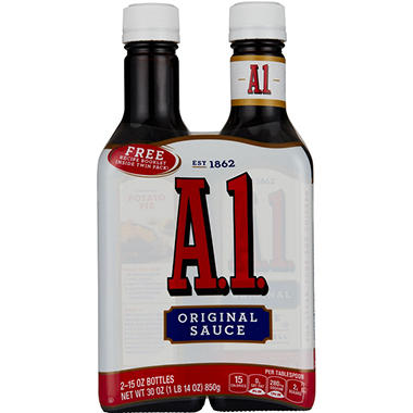 A-1® Steak Sauce - 15 oz. bottle - 2 ct.