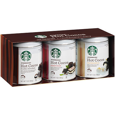 Starbucks® Hot Cocoa Mix Gift Set - 7 oz. - 3 pk.