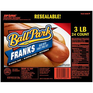 Ball Park Franks - 3 lb.