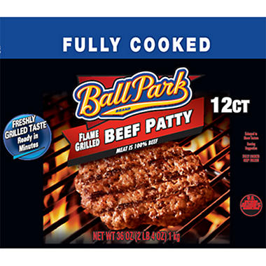 Ball Park Brand Flame Grilled Beef Patty - 12 ct. - 36 oz.