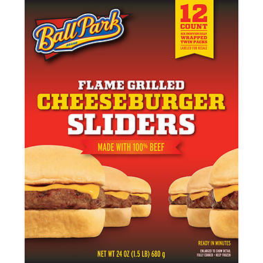 Ball Park Flame Grilled Cheeseburger Sliders - 12 ct.