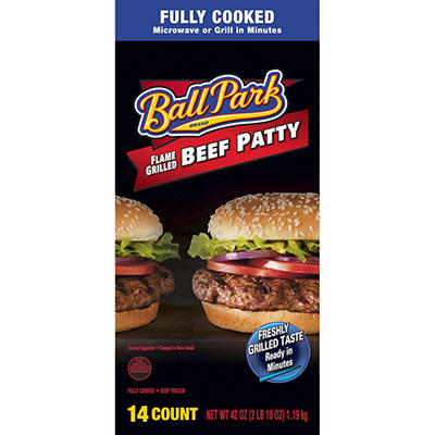 Ball Park Flame Grilled Beef Patty (14 ct., 42 oz.)