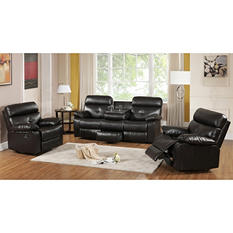 Roquette Casual Contemporary 3-Piece Reclining Sofa Group