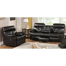 Roquette Casual Contemporary 2-Piece Reclining Sofa Group