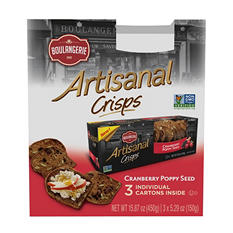 Artisanal Crisps Cranberry Poppy Seed (5.29 oz. ea., 3 pk.)