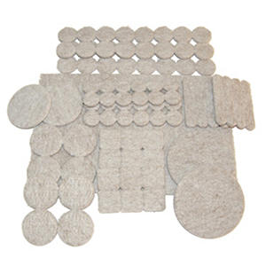 ECO FELTAC Self-Stick Felt Floor and Surface Savers - 343 Pieces Kit