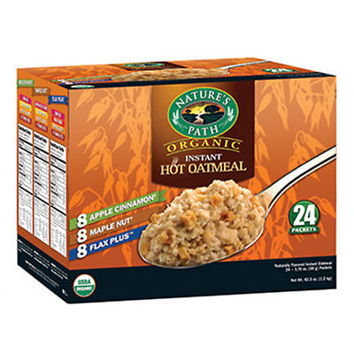 Nature's Path Organic Instant Hot Oatmeal Variety Pack - 24 ct.