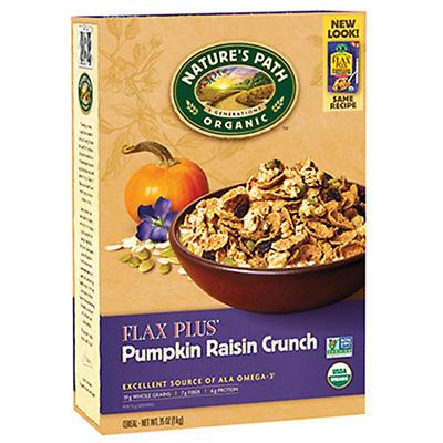 Nature's Path Organic Flax Plus Pumpkin Raisin Crunch Cereal - 35 oz.