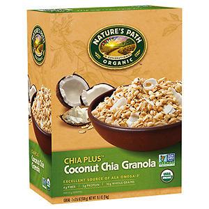 Nature's Path Organic Chia Plus Coconut Chia Granola (17.6 oz. box, 2 pk.)