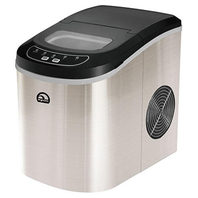 IGLOO Compact Ice Maker - Chrome