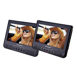 "Sylvania 10.1"" Dual Screen Portable DVD Player"