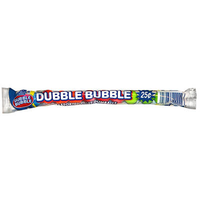 Dubble Bubble 12 Ball Assorted Tubes - 12 cartons of 24 each