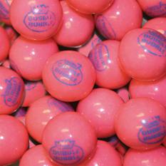 """Dubble Bubble Pink """"1928"""" 24mm Gumballs - 850 count"""