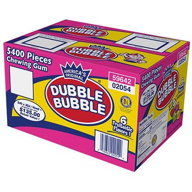 Dubble Bubble Tab Chewing Gum - 5400 ct.