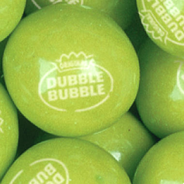 Dubble Bubble Green Apple Gumballs - 22mm - 1,640 ct.