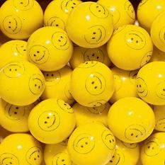 Dubble Bubble Smiley Face 24mm Gumballs - 850 count