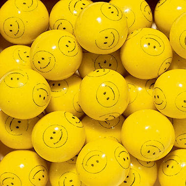 Dubble Bubble Smiley Face 24mm Gumballs - 850 count