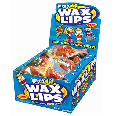 Wack-O-Wax Lips - 8 cartons of 24 each