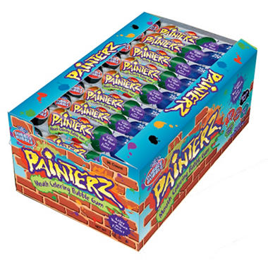 Painterz Gumball Tubes - 25 cent size - 10 cartons of 36 each
