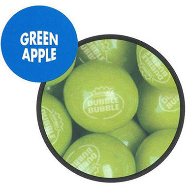 Dubble Bubble Green Apple Gumballs 23mm - 1,080ct