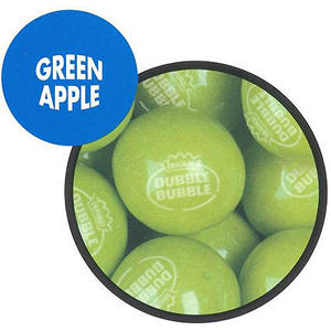 Dubble Bubble Green Apple Gumballs 23mm - 1,080ct