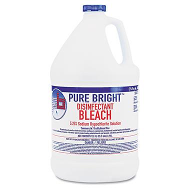Pure Bright - Liquid Bleach, 1gal Bottle -  4/Carton