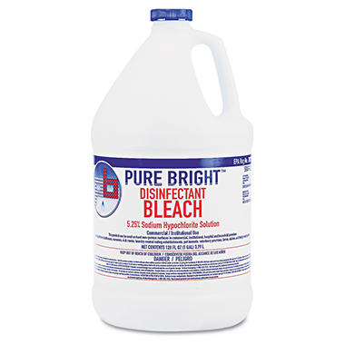 Pure Bright - Liquid Bleach, 1gal Bottle -  4/Carton