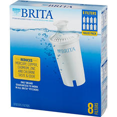 Brita Water Filter Pitcher Advanced Replacement Filters, 8 ct.