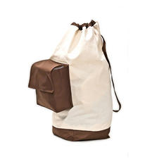 Cotton Laundry Bag with Pocket