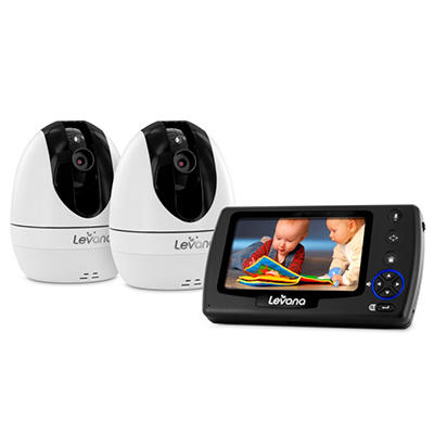 "Levana Ovia 4.3""  PTZ Digital Baby Video Monitor with Two Cameras"